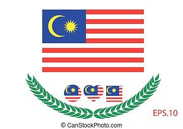 Vector illustration of Malaysia flag. Eps 10