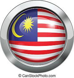 Malaysian flag metal button