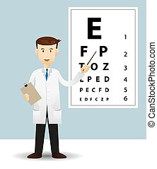 Male ophthalmologist - Vector illustration of Male ...