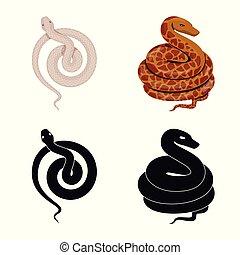 Vector illustration of mammal and danger symbol. Collection of mammal and medicine stock symbol for web.