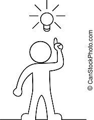 Man with a light bulb