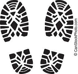 foot prints - vector illustration of man's foot prints