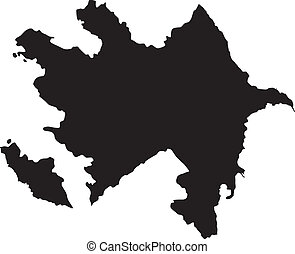 Vector illustration of maps of  Azerbaijan
