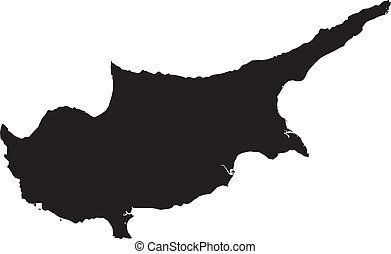 Vector illustration of maps of Cyprus