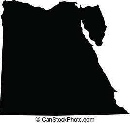 Vector illustration of maps of Egypt