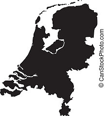 Vector illustration of maps of Netherlands