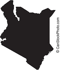 Vector illustration of maps of Kenya