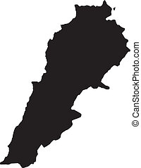 Vector illustration of maps of Lebanon