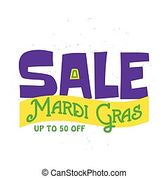 Vector illustration of Mardi Gras background with typography text