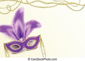 Vector illustration of Mardi Gras holiday background