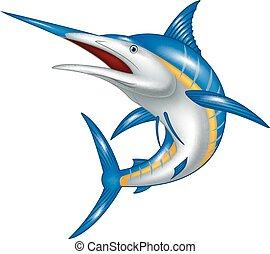 Marlin fish cartoon