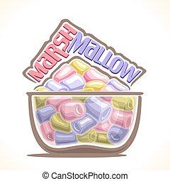 Vector illustration of Marshmallow