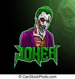 Mascot joker esport logo design