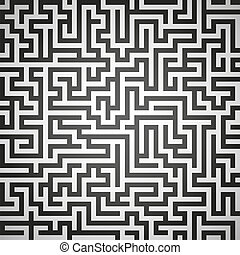 Vector illustration of maze, labyrinth