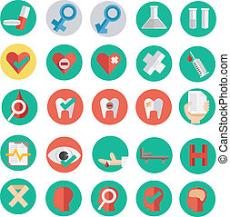 Vector illustration of medical icon in flat design SET 2