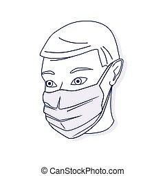 Vector illustration of medical protective shielding bandage