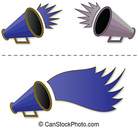Megaphone shout-out - vector illustration of Megaphone shout...
