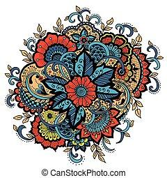 Vector illustration of mehndi ornament.