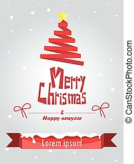 vector illustration of merry christmas and happy new year.