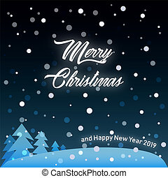 Vector Illustration of Merry Christmas and Happy New Year