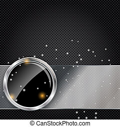 Vector illustration of metal glass abstract background