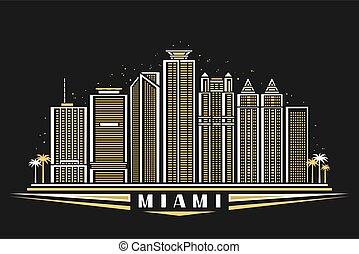 Vector illustration of Miami