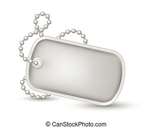 Military dog tags illustration