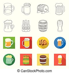 Vector illustration of minimal and pint sign. Collection of minimal and craft stock symbol for web.