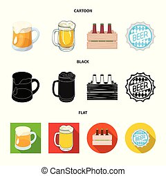 Vector illustration of minimal and pint sign. Collection of minimal and craft stock vector illustration.