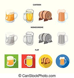 Vector illustration of minimal and pint symbol. Set of minimal and craft stock symbol for web.