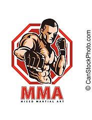 MMA fighter - vector illustration of MMA fighter