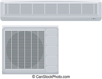 Vector illustration of modern air conditioning on a white background