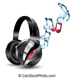 vector illustration of modern big headphones