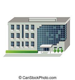 Vector illustration of modern building