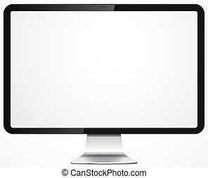 Vector illustration of modern computer display