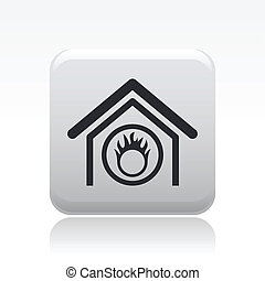 Vector illustration of modern icon depicting a danger signal...