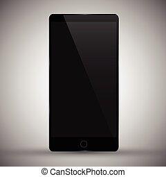 Vector illustration of modern mobile phone