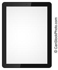 Vector illustration of modern tablet computer