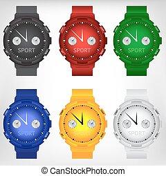 Vector illustration of modern wristwatch - Vector...