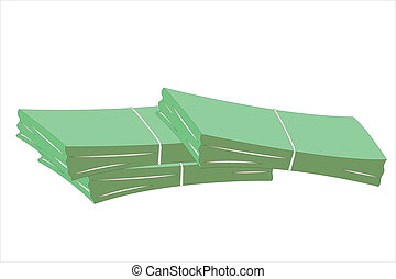 Vector illustration of money stacks