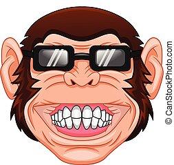 monkey head mascot on a white background