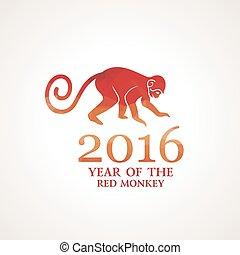 Vector illustration of monkey