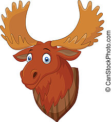 Vector illustration of Moose head cartoon