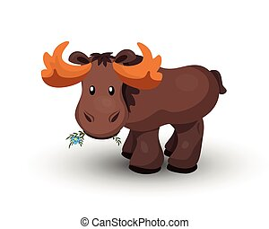 Vector illustration of moose