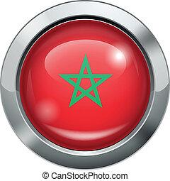 Morocco flag metal button