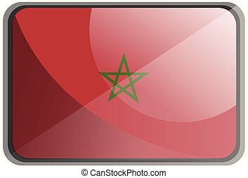 Vector illustration of Morocco flag on white background.