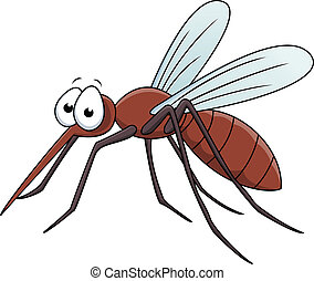 Vector Illustration Of Mosquito Cartoon