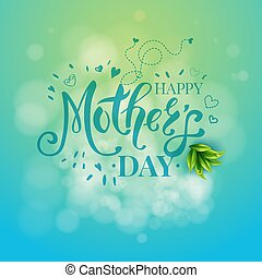 Vector illustration of Mothers day graphic template