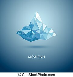 vector illustration of mountain. mountain logo. Triangle mountain. mountain design.
