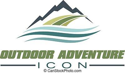 Illustration of Mountain outdoor - Vector Illustration of...